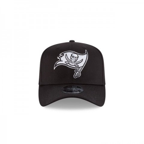 TAMPA BAY BUCCANEERS BLACK AND WHITE STRETCH SNAP 9FIFTY SNAPBACK