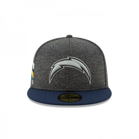 LOS ANGELES CHARGERS GRAPHITE SIDELINE HOME 59FIFTY FITTED - Sale