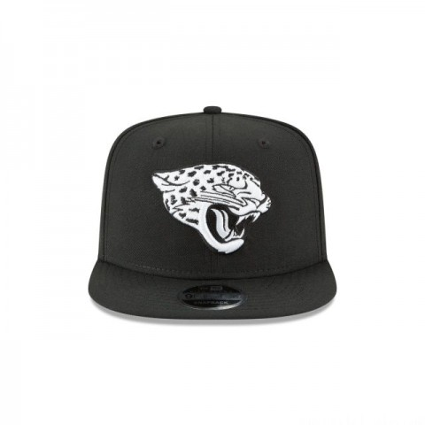 JACKSONVILLE JAGUARS BLACK AND WHITE HIGH CROWN 9FIFTY SNAPBACK