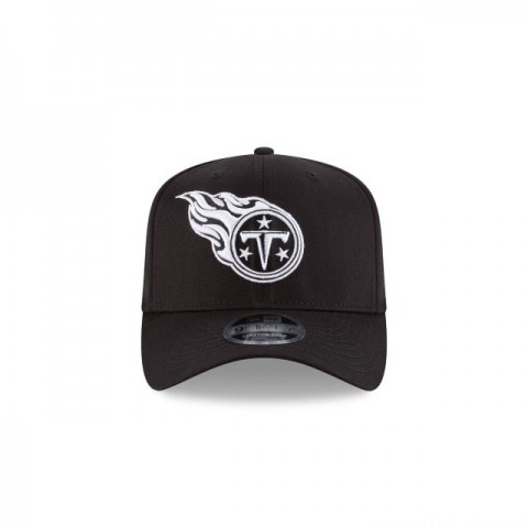 TENNESSEE TITANS BLACK AND WHITE 9FIFTY STRETCH SNAPBACK