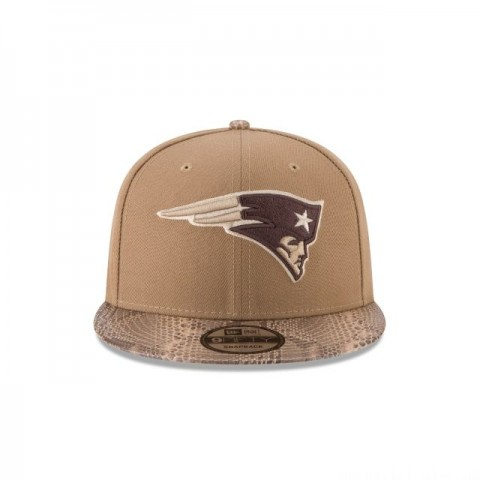 NEW ENGLAND PATRIOTS SNAKESKIN KHAKI 9FIFTY SNAPBACK - Sale