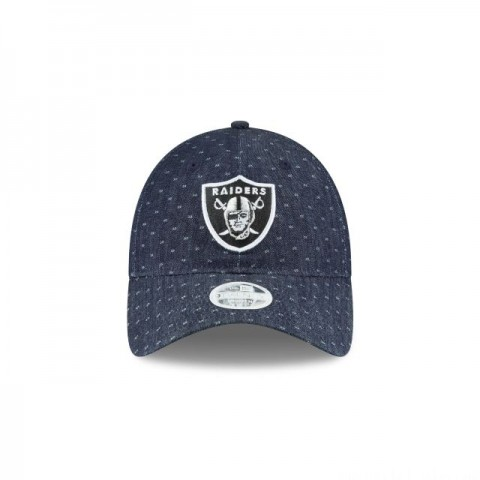 OAKLAND RAIDERS DOTTED DENIM WOMENS 9TWENTY ADJUSTABLE - Sale