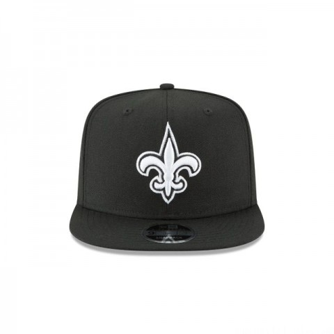 NEW ORLEANS SAINTS BLACK AND WHITE HIGH CROWN 9FIFTY SNAPBACK