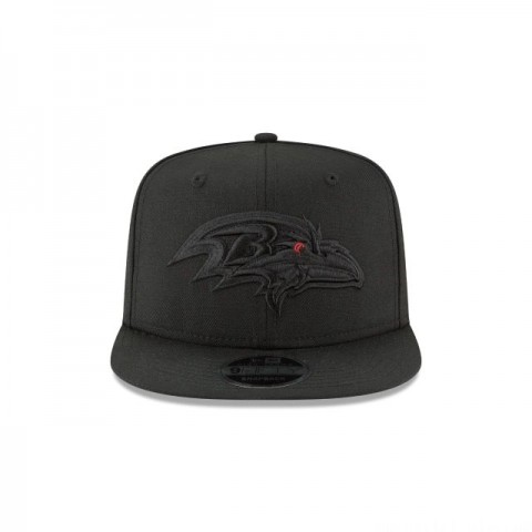 BALTIMORE RAVENS BLACK ON BLACK HIGH CROWN 9FIFTY SNAPBACK