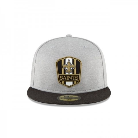 NEW ORLEANS SAINTS OFFICIAL SIDELINE ROAD 59FIFTY FITTED