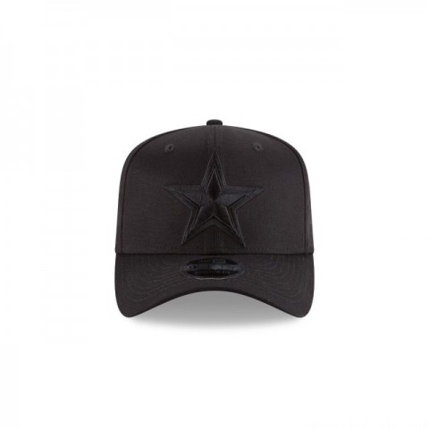 DALLAS COWBOYS BLACK ON BLACK STRETCH SNAP 9FIFTY SNAPBACK - Sale
