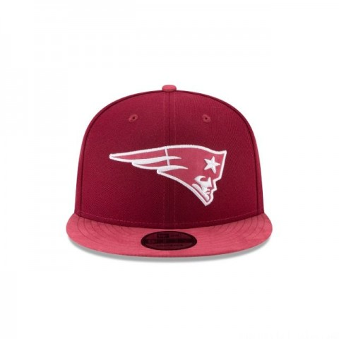 NEW ENGLAND PATRIOTS TONAL CHOICE CARDINAL RED 9FIFTY SNAPBACK - Sale