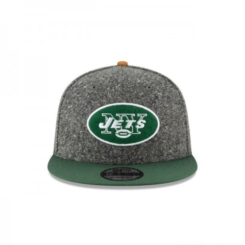 NEW YORK JETS SUEDE ON TWEED 9FIFTY STRAPBACK