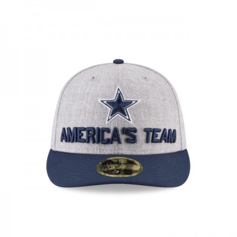 DALLAS COWBOYS NFL DRAFT ON STAGE LOW PROFILE 59FIFTY FITTED - Sale