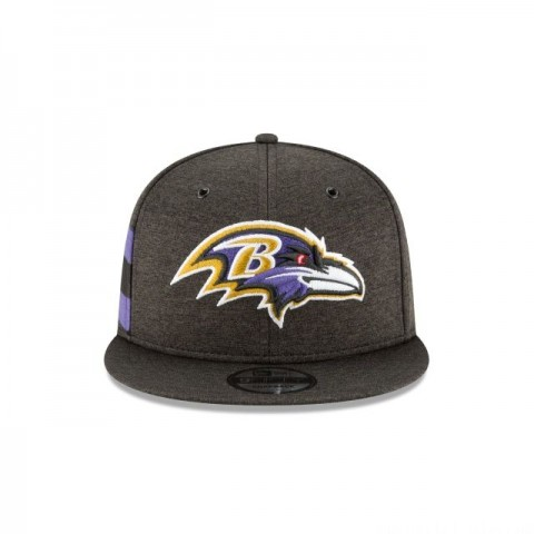 BALTIMORE RAVENS OFFICIAL SIDELINE HOME KIDS 9FIFTY SNAPBACK - Sale