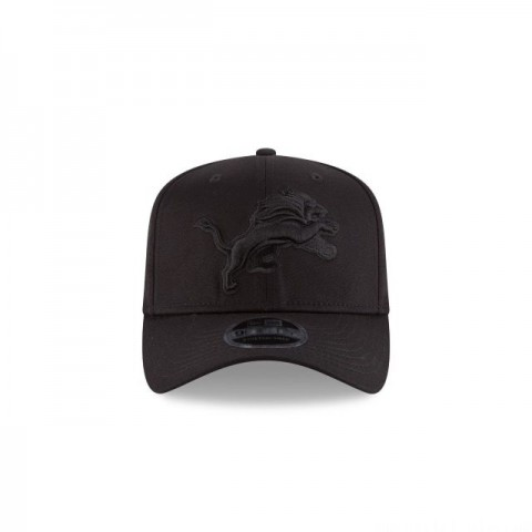 DETROIT LIONS BLACK ON BLACK STRETCH SNAP 9FIFTY SNAPBACK - Sale