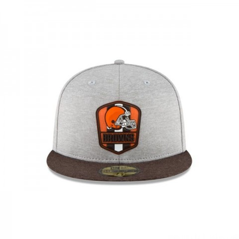 CLEVELAND BROWNS OFFICIAL SIDELINE ROAD 59FIFTY FITTED - Sale