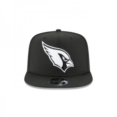 ARIZONA CARDINALS BLACK AND WHITE HIGH CROWN 9FIFTY SNAPBACK