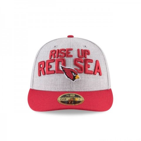 ARIZONA CARDINALS NFL DRAFT ON STAGE LOW PROFILE 59FIFTY FITTED