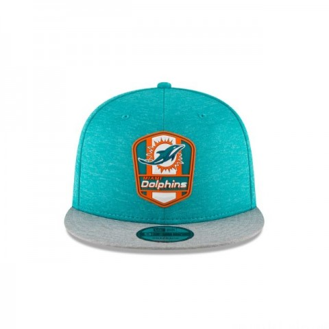 MIAMI DOLPHINS OFFICIAL SIDELINE ROAD 9FIFTY SNAPBACK - Sale