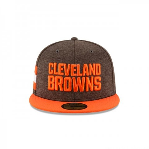 CLEVELAND BROWNS OFFICIAL SIDELINE HOME KIDS 59FIFTY FITTED - Sale