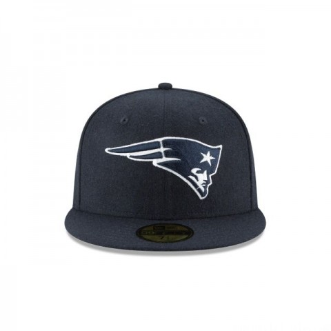 NEW ENGLAND PATRIOTS NAVY MELTON WOOL 59FIFTY FITTED - Sale